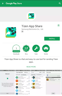 Samsung releases Tizen App Share for sending Tizen apps from Android Smartphones