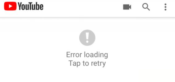 error loading