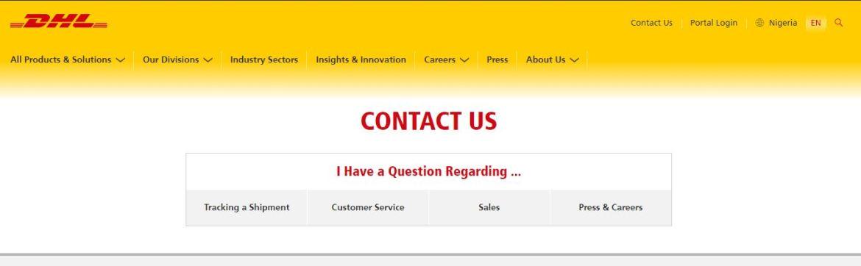 DHL Contact Us