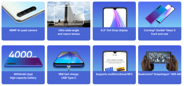 Redmi Note 8T features