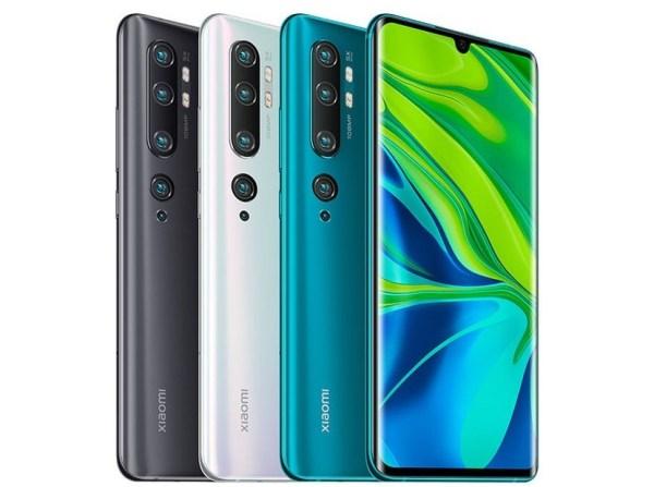 Xiaomi Mi CC9 Pro in colours.