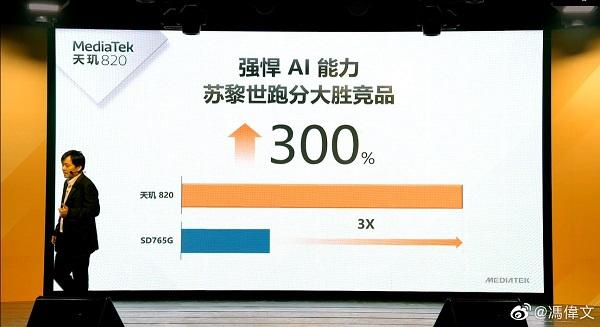 Dimensity 820 vs. Snapdragon 765G NPU performance