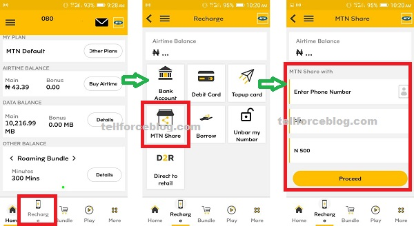 How to Share MTN Airtime Using MyMTN App