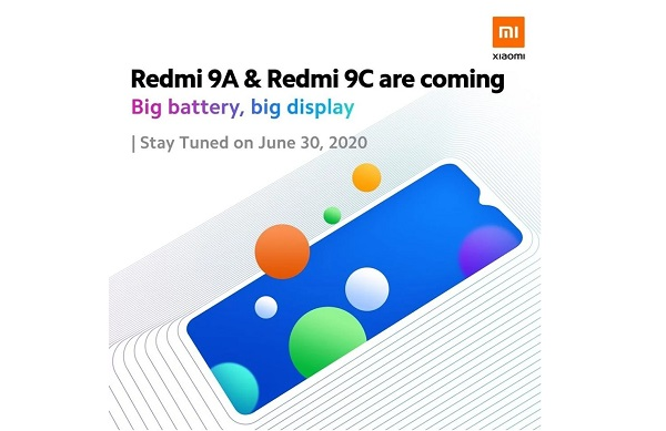 Redmi 9A and Redmi 9C coming on June 30