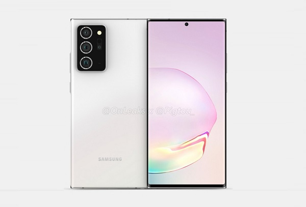 Samsung Galaxy Note20+ renders