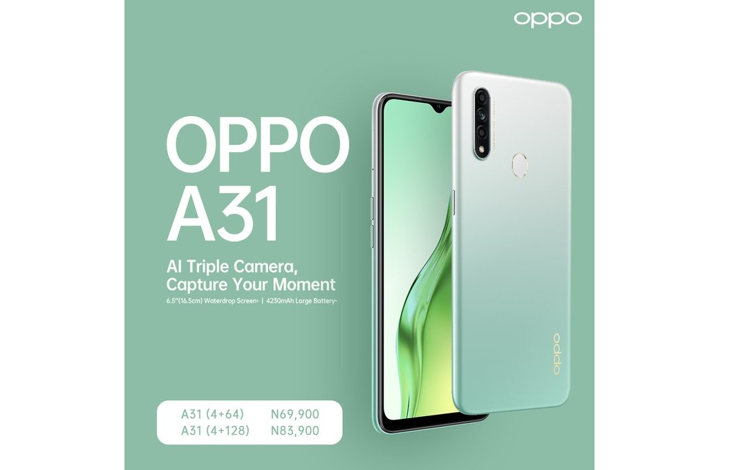 Oppo A31 Launched in Nigeria