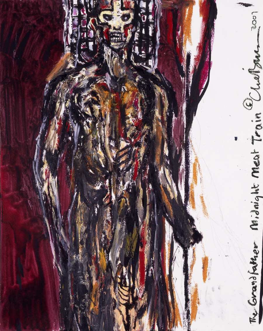 "SOLD ""The Grandfather"" (Midnight Meat Train Series) — Clive Barker. Oil on paper. 19""x24"" $4000 USD"