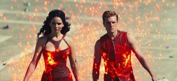 Katniss pegando fogo vestido