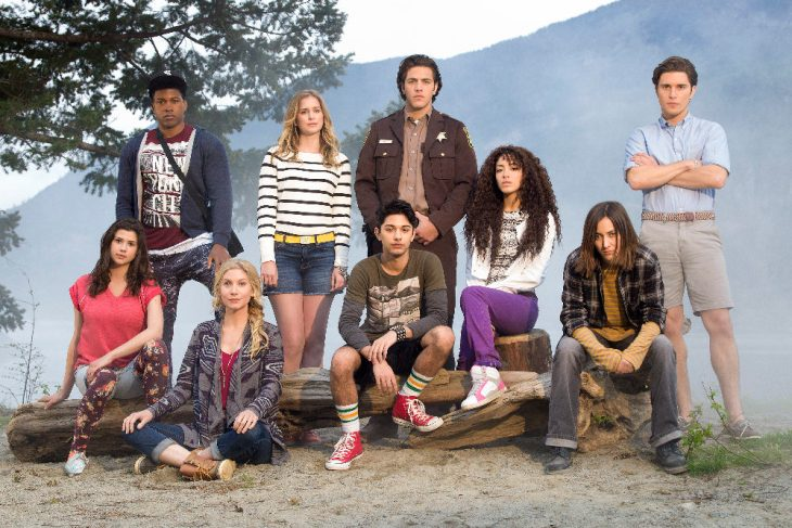 "DEAD OF SUMMER - Freeform's ""Dead of Summer"" stars Amber Coney as Cricket, Eli Goree as Joel, Elizabeth Mitchell as Deb, Elizabeth Lail as Amy, Mark Indelicato as Blair, Alberto Frezza as Deputy Sykes, Paulina Singer as Jessie, Zelda Williams as Drew and Ronen Rubinstein as Alex. (Freeform/Tyler Shields)"
