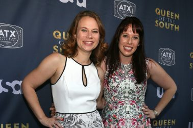 AUSTIN, TX - JUNE 9: ATX Television Festival Co-Founders and Executive Directors Emily Gipson and Caitlin McFarland at the opening night with USA's 'Queen of the South' at the 2016 ATX Television Festival at the Stephen F. Austin InterContinental Hotel on June 9, 2016, in Austin, Texas. (Photo by Jack Plunkett/Picturegroup)