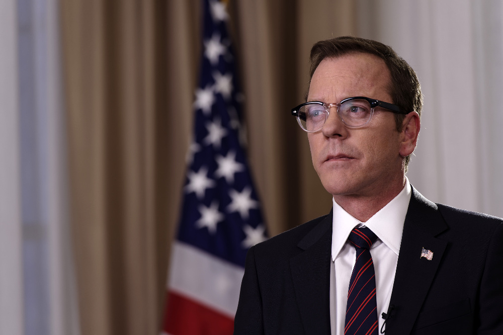 """DESIGNATED SURVIVOR - """"Pilot"""" - Kiefer Sutherland stars as Tom Kirkman, a lower-level cabinet member who is suddenly appointed President of the United States after a catastrophic attack on the U.S. Capitol during the State of the Union, on the highly anticipated ABC series """"Designated Survivor,"""" airing WEDNESDAY, SEPTEMBER 21 (10:00-11:00 p.m. EDT). (ABC/Ben Mark Holzberg)"""