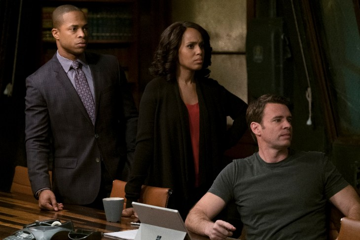 "SCANDAL- ""Dead in the Water"" - It's a race against the clock when Olivia and OPA's investigation into the conspiracy puts one of their own in grave danger, on ""Scandal,"" airing THURSDAY, APRIL 6 (9:01-10:00 p.m. EDT), on The ABC Television Network. (ABC/Scott Everett White)"