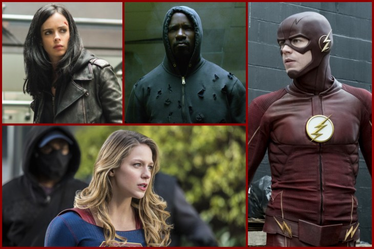 15 Leading TV Superheroes from Marvel and DC
