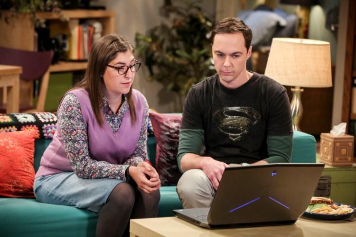 The Big Bang Theory Amy and Sheldon computer