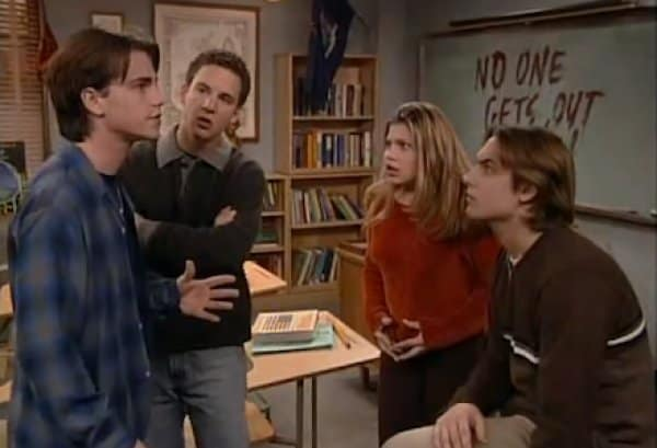 Ben Savage, Rider Syrong, Will Friedle, and Danielle Fishel - Boy Meets World