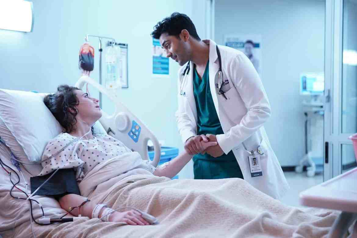 The Resident Season 2 Episode 1 - Adrienne Whitney Papp and Manish Dayal as Devon Pravesh