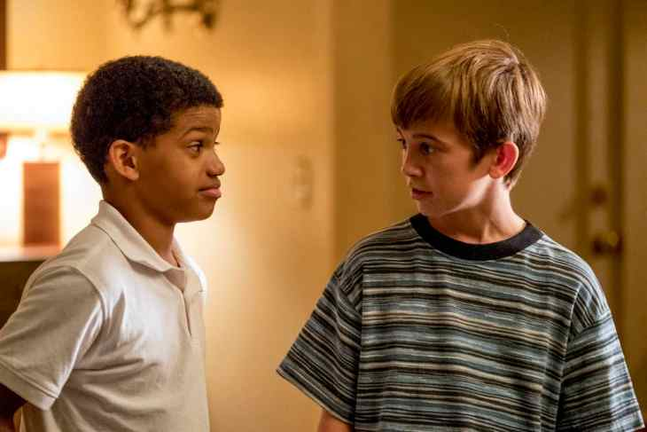 This Is Us Season 3 Episode 6 - Lonnie Chavis as Young Randall, Parker Bates as Young Kevin