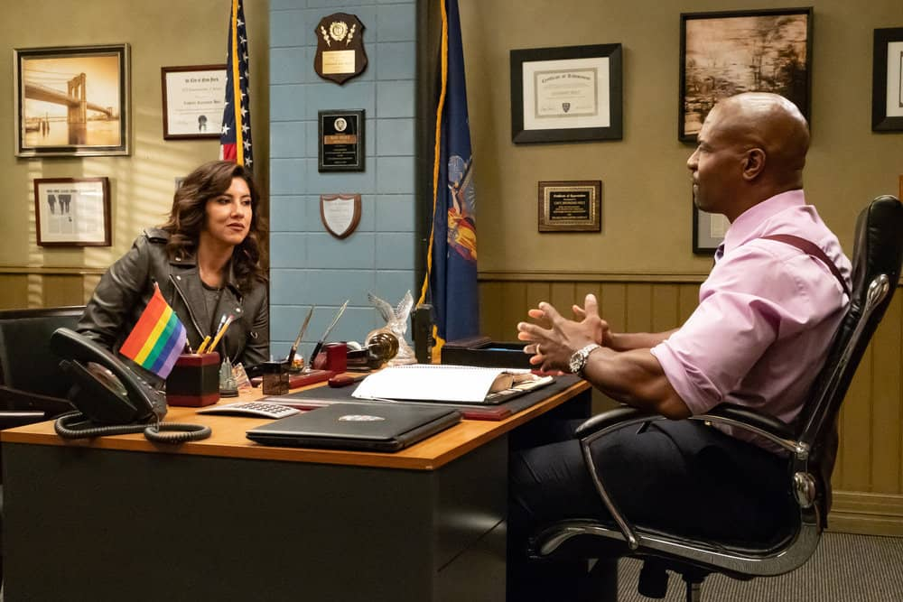 Brooklyn Nine-Nine Season 6 Episode 1 - Stephanie Beatriz as Rosa Diaz, Terry Crews as Terry Jeffords