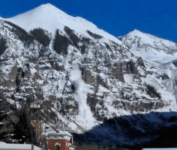 Telluride's Iconic Ajax Peak Slides Naturally