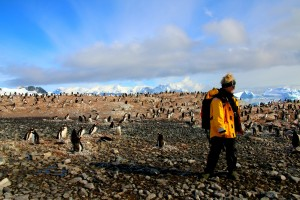 Kicking it in a penguin colony in Antarctica