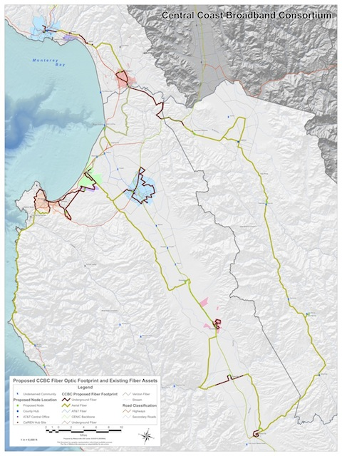 Central Coast Broadband Consortium system map
