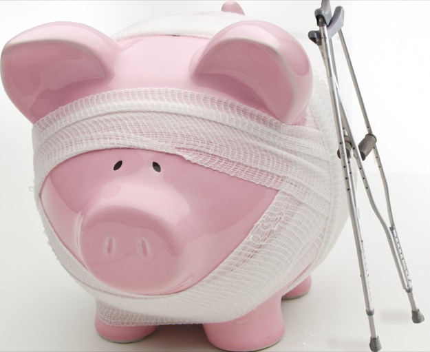 Sick piggy bank