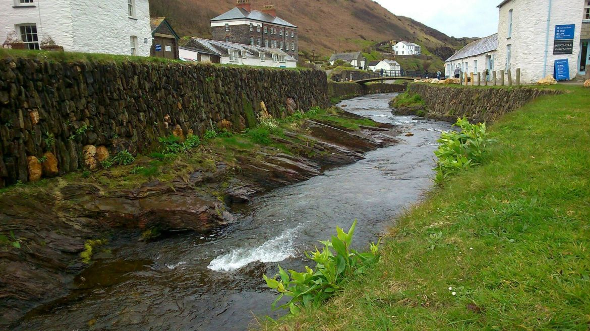Estuario de Boscastle, Cornwall