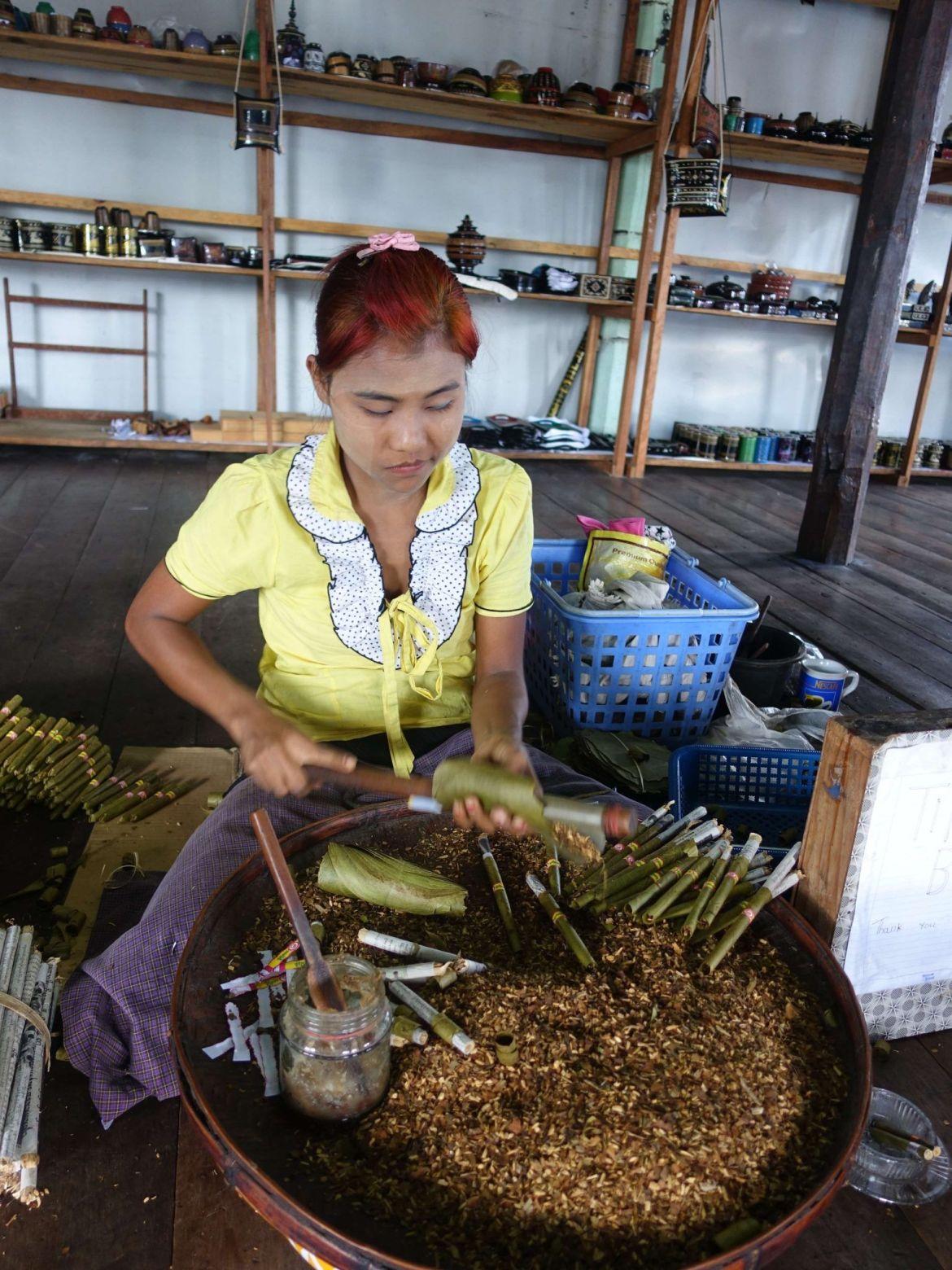 Cigarros artesanos, Lago Inle, Myanmar
