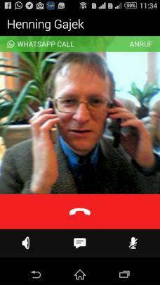 WhatsApp Call während einer Sprachverbindung
