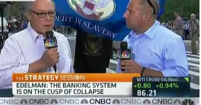 Even the Fed/Bank Apologist CNBS Couldn't not Continue to Ignore Occupy Wall St Movement