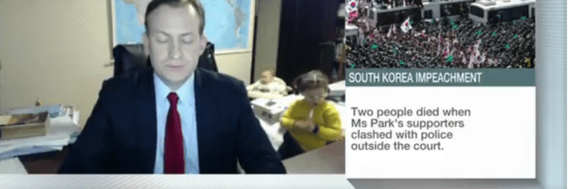 When kids interrupt your TV appearance… it's sweet