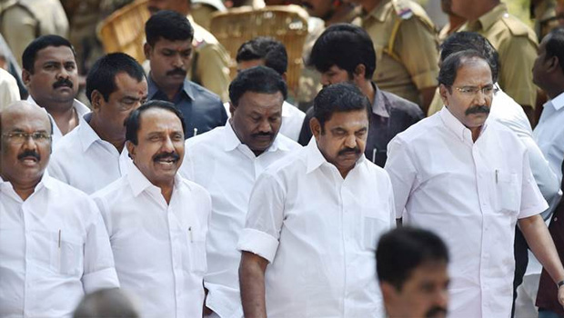 Palaniswamy says to governor no need 15 days time 4 days enough for mlas supporting