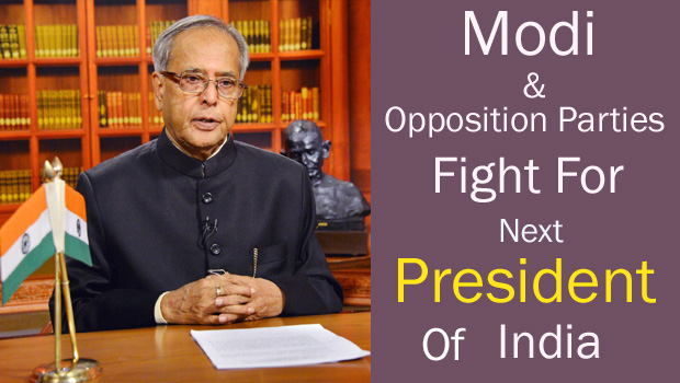 modi and opposition parties fight for india president candidate
