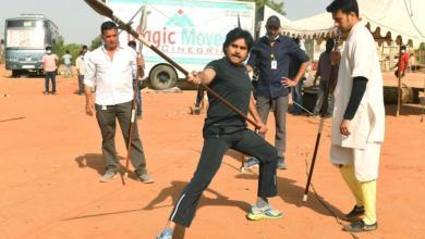 Pawan Kalyan practising Martial arts for Krish's HHVM