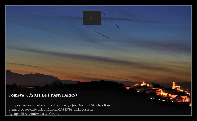 Cometa C/2011 L4 des de Llagostera. José Manuel Sánchez Bosch i Carles Corney