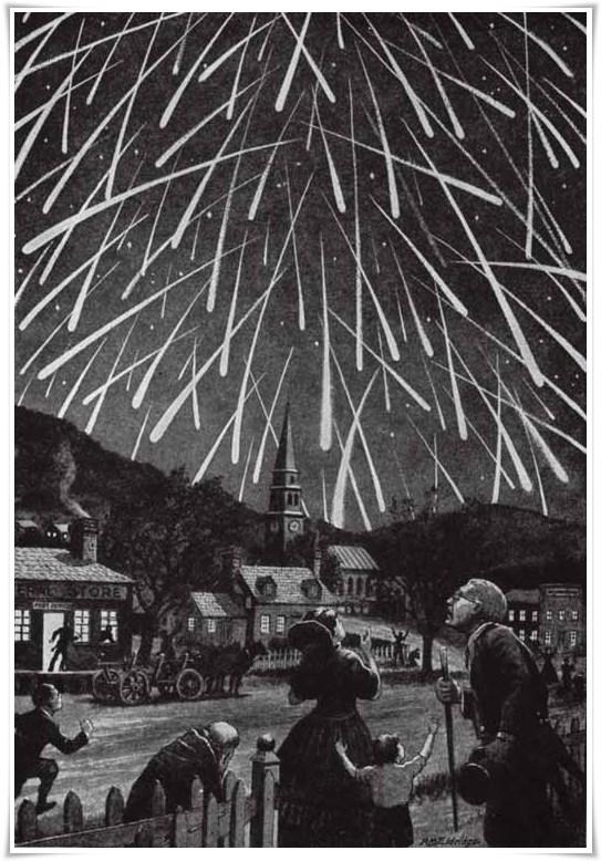 Tempesta de meteors per Abraham Lincoln Observer