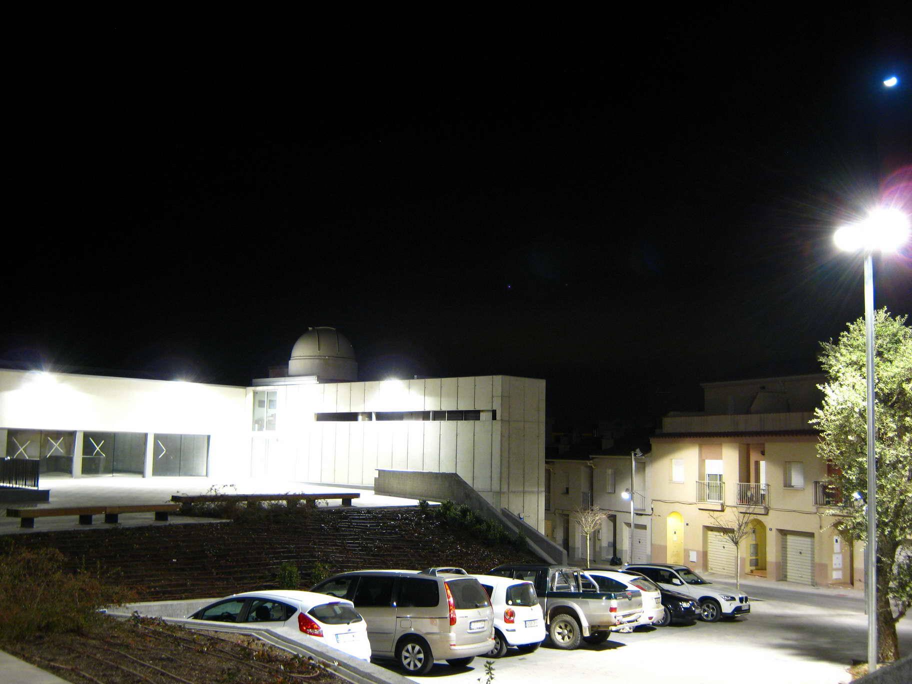Contaminació lumínica amb 1 segon d'exposició