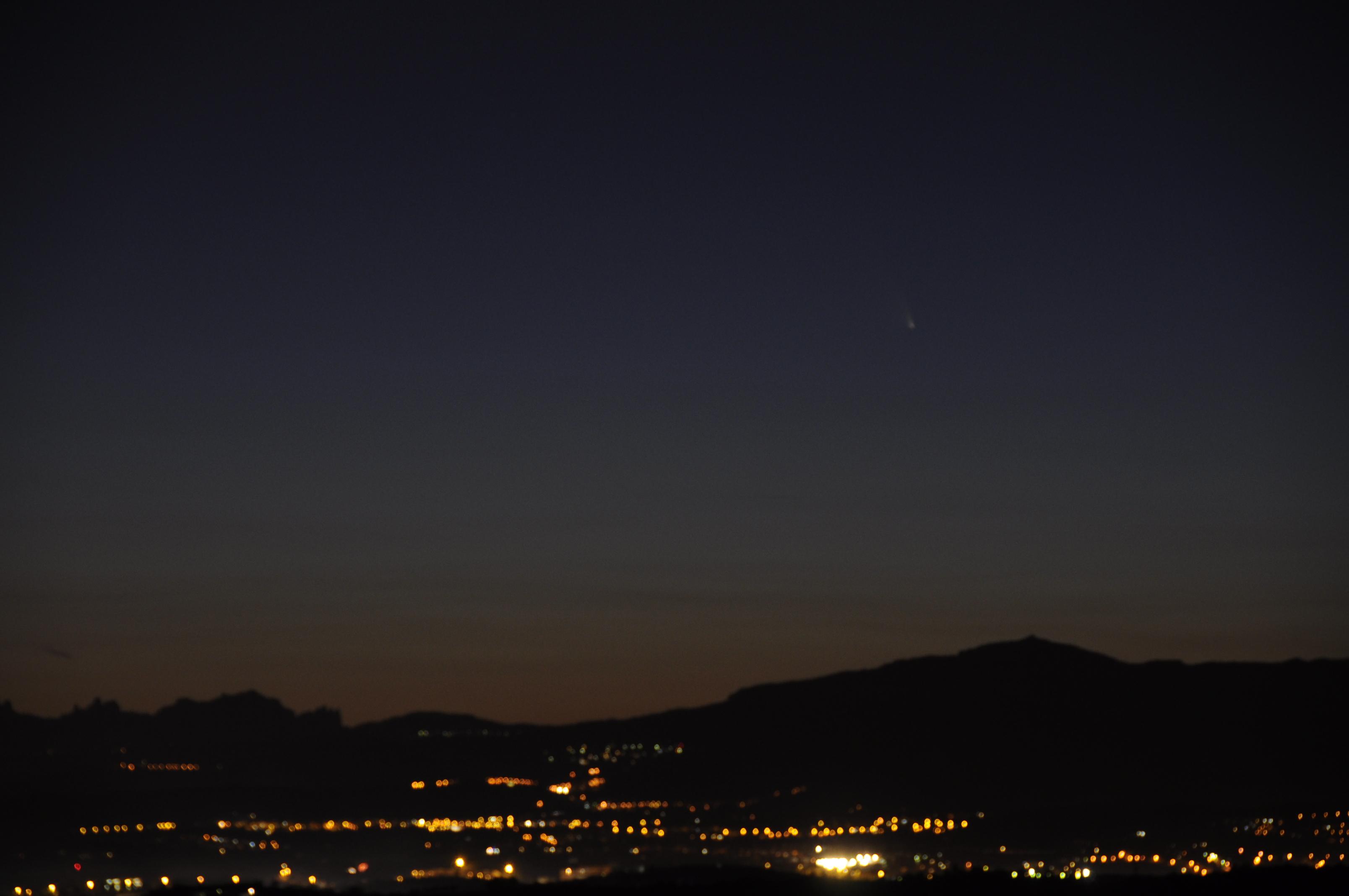 Cometa C/2011 L4 des de Dosrius. Carles Corney