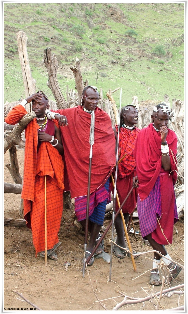Guerrers Maasai. Fotografia de Rafael Balaguer Rosa