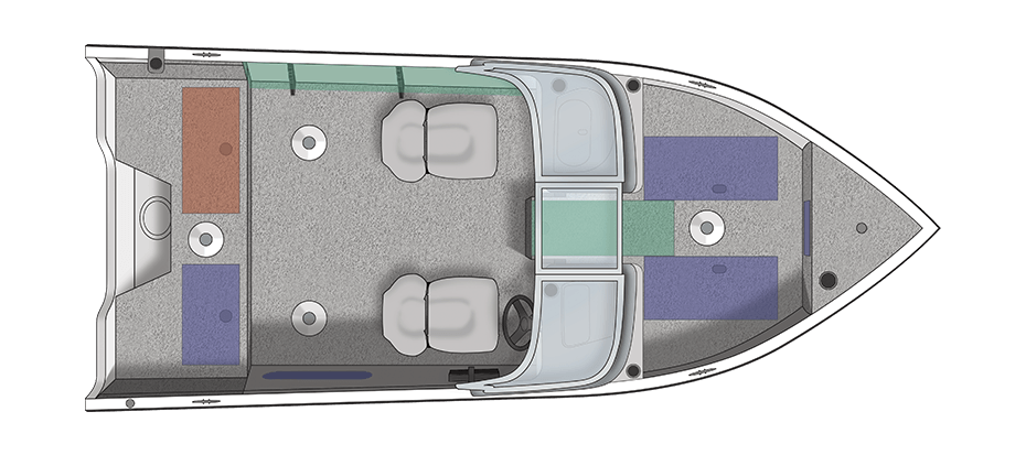 Crestliner Fish Hawk 1650 SE WT Aufteilung