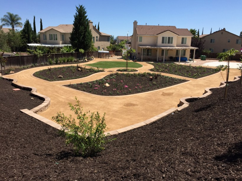 DG pathways with gardens in Murrieta McCabe's Landscape Construction
