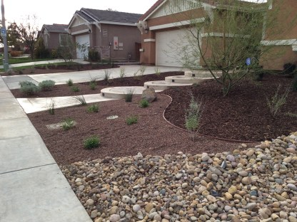 Gravel front yard and dry river stream bed in Murrieta McCabe's Landscape Construction