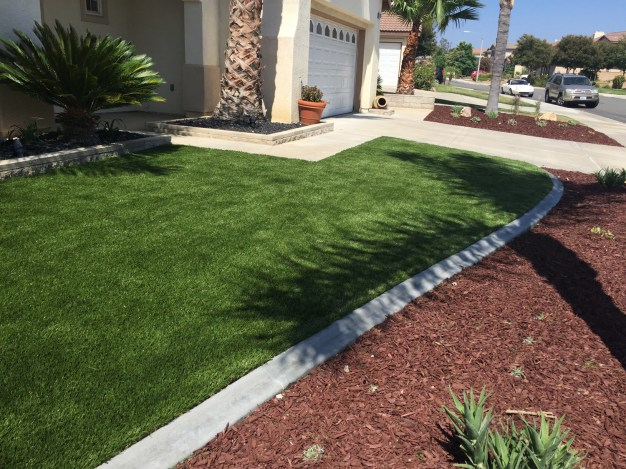 Artificial turf front yard in Temecula McCabe's Landscape Construction
