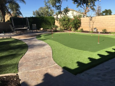Putting green in Corona McCabe's Landscape Construction