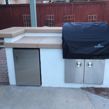 BBQ with bar height counter in Temecula McCabe's Landscape Construction
