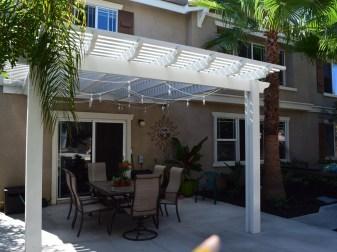 Latticed patio cover in Temecula McCabe's Landscape Construction