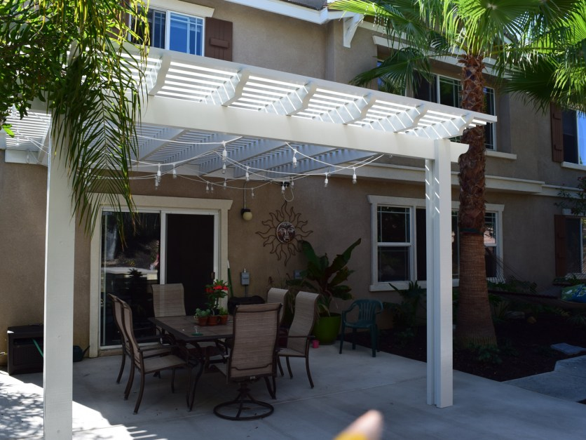 Latticed patio cover in Temecula McCabe's Landscape Construction