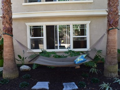 Hammock space between palms in Temecula McCabe's Landscape Construction