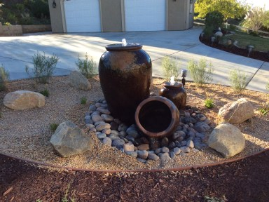 Water fountain, pot water feature in Temecula McCabe's Landscape Construction