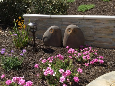 Stone faced retaining wall in Temecula McCabe's Landscape Construction